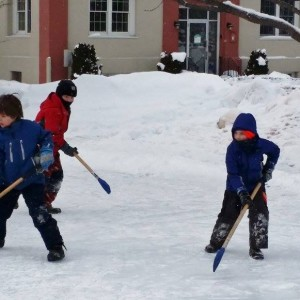 Broomball Rutland VT Winterfest Carpenter Costin