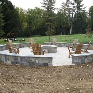 large backyard fire pit carpenter costin rutland vt