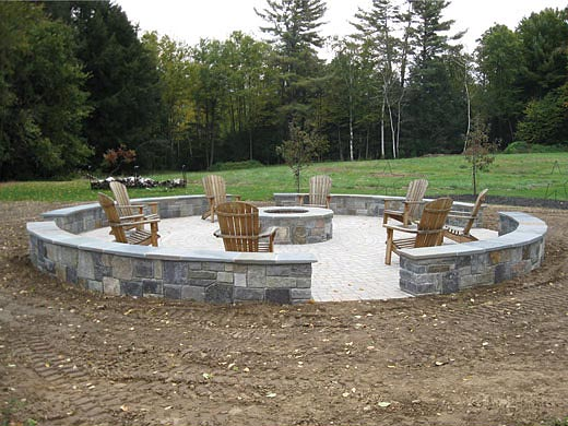 large backyard fire pit carpenter costin rutland vt