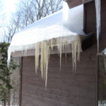Killington VT, Vermont, Carpenter & Costin, Ice Dams, Icicles, Roof Leaks, Leaky roof, Ice,
