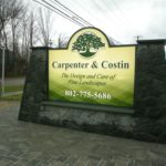 Carpenter Costin Stone Sign Pillars