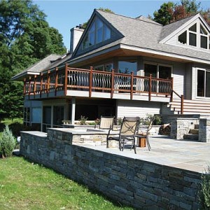 Stone patio retaining wall carpenter costin