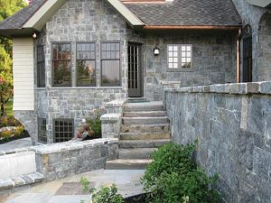 stonework outdoor entry stairs