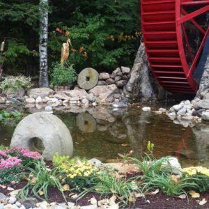 Water Wheel LAndscaping by Carpener & Costin Rutland Vermont