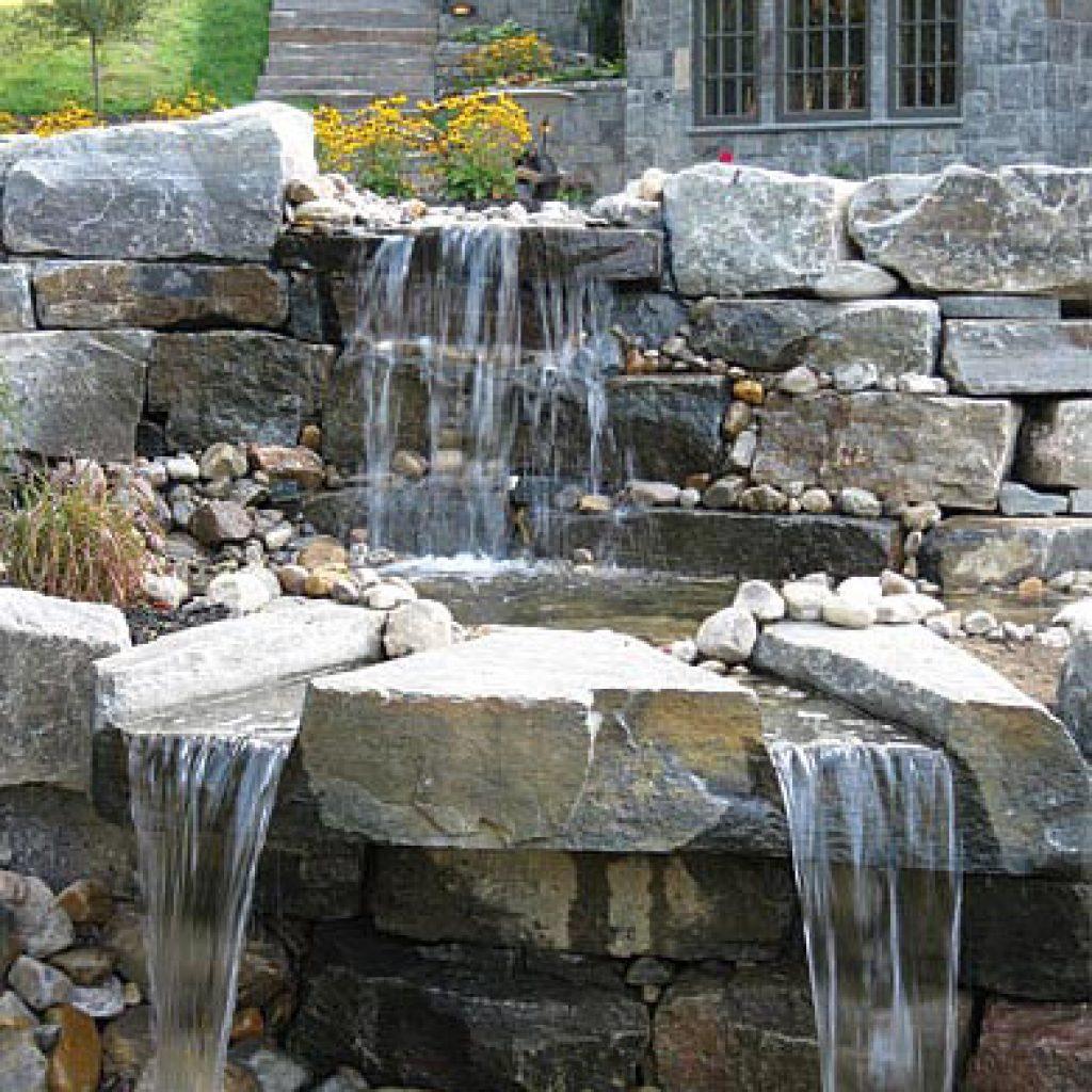 Waterfall design construction carpenter costin rutland vt for Waterfall design