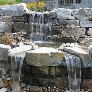 waterfall feature stonework