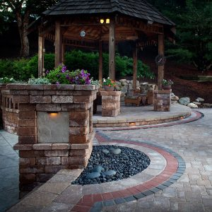 patio ideas, stone steps, raised patio ideas, backyard entertaining, carpenter costin