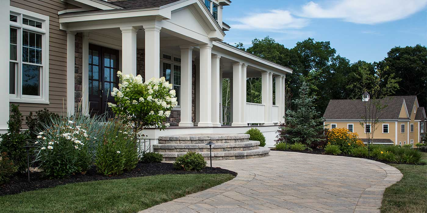 Stunning front path and staircase to a home or business