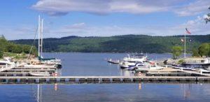 Marina on Lake Champlain