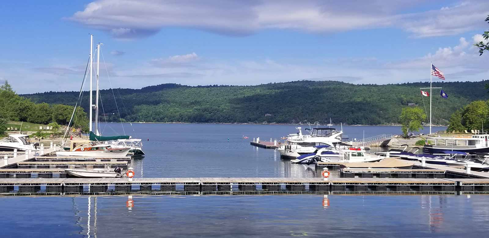 Marina on Lake Champlain