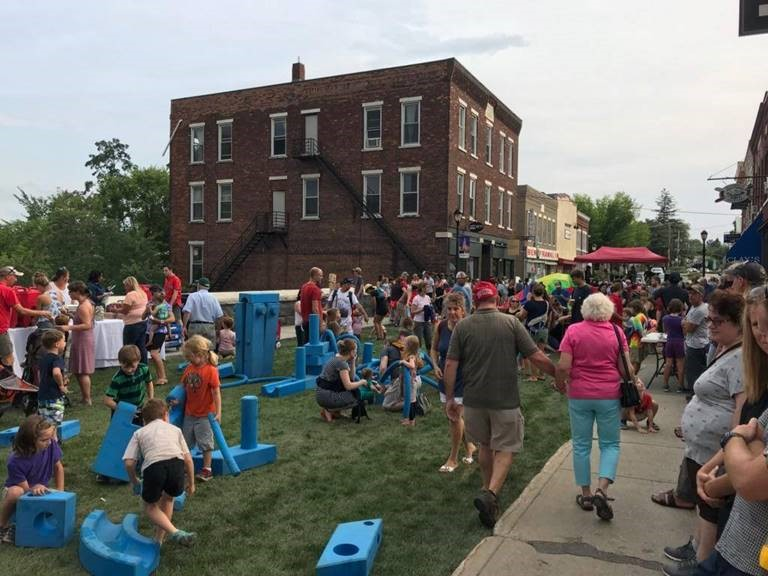 Middlebury Green Streets Challenge block party